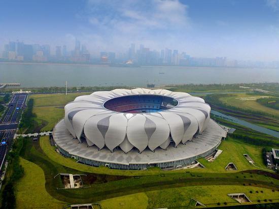 杭州奥体中心主体育场(2022杭州亚运会主场馆)。  中南↓集团供图