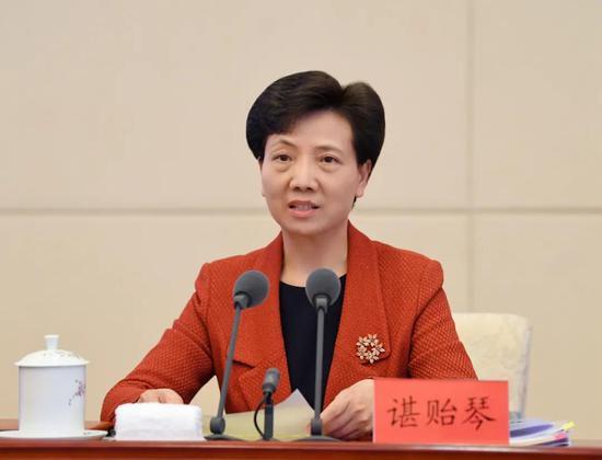 省委书记、省人大常委会主任谌贻琴讲话。贾智摄
