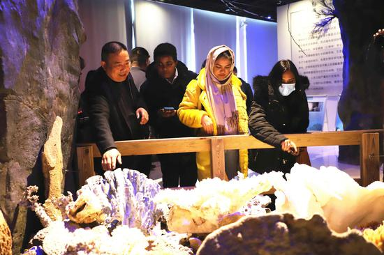 参观海洋生物博物馆 吴立高 摄