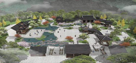 九山公园-松台山历史文化提升改造工程。(预览图)武杰提供