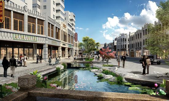 温州解放街和五马历史文化商圈南片区二期改造提升工程。(预览图)武杰提供