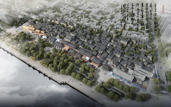 朔门历史文化街区改造提升项目二期工程。(预览图)武杰提供