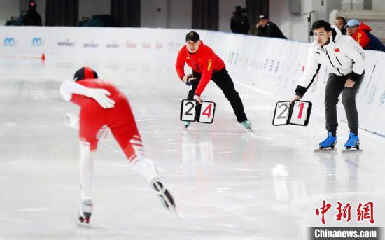 2020-2021赛季全国速度滑冰冠军赛收官。黑龙江省体育局提供