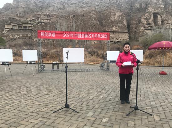自治区文化和旅游厅、自治区文博院党组书记侯汉敏为活动致辞。