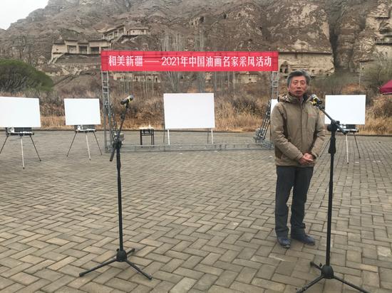 中国美术家协会主席、中国美术学院院长范迪安致辞。