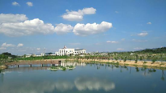 永康市钱江水务有限公司城市污水处理厂一角。  吕先锋 摄