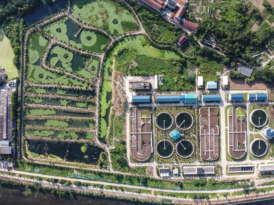 永康市钱江水务有限公司城市污水处理厂。  吕先锋 摄
