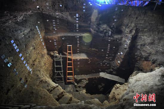 实拍贵州贵安招果洞遗址发掘现场