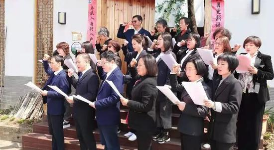 民建衢州市委会举行党史教育活动现场。 陆梦菲 摄