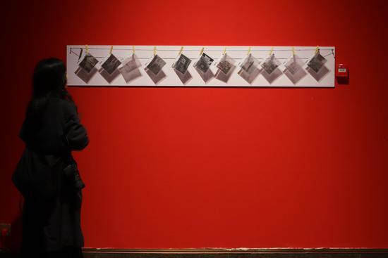 参观者在欣赏展览出来的图片 王志岳 摄