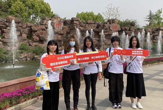 浙江工商大学艺术设计学院学生。浙江工商大学提供
