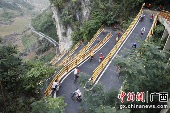 """凌云举办""""两会一赛"""":骑游乡村路 细品长寿白毫香"""