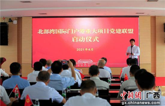 广西北部湾国际门户港重大项目党建联盟启动