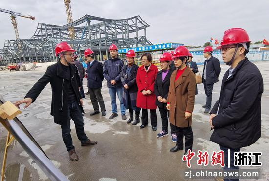2021年3月,绍兴市人大常委会实地考察浙东运河文化园在建项目 阮思璇 摄