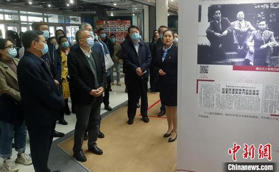 """""""我和我的祖国""""中国科学家精神主题展全国巡展新疆站活动启动现场。 王小军 摄"""