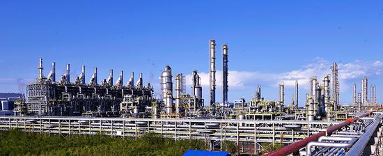独山子石化百万吨乙烯裂解装置。常国敬 摄