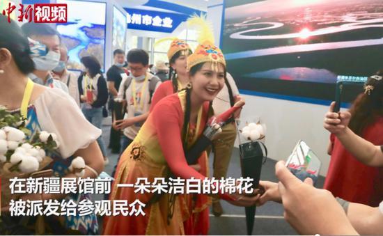"""丝博会探馆:新疆棉花""""陕亮""""登场"""