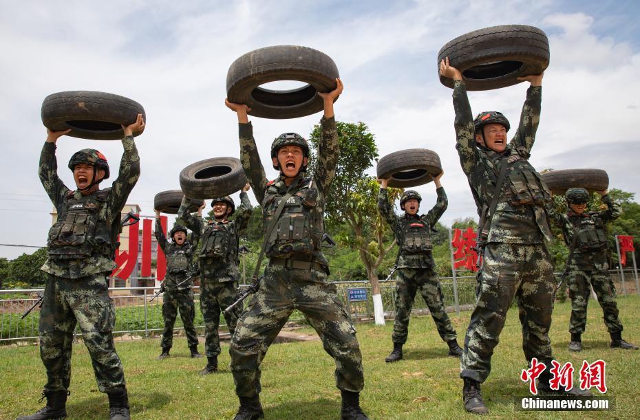 武警廣西總隊欽州支隊:戰高溫 練精兵