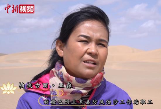 【新疆故事】新疆姑娘坚守16年在沙漠里播种绿色