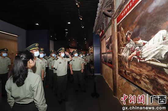 广西武警开展主题党日活动