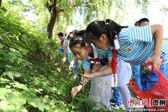 贵州江口:爱护环境 从娃娃抓起