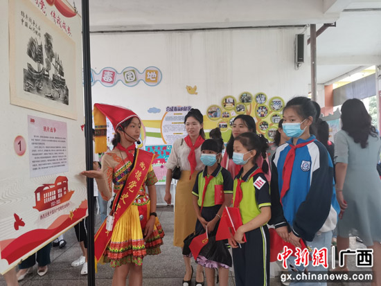 """桂林七星区教育系统""""红领巾""""宣讲团启动宣讲"""