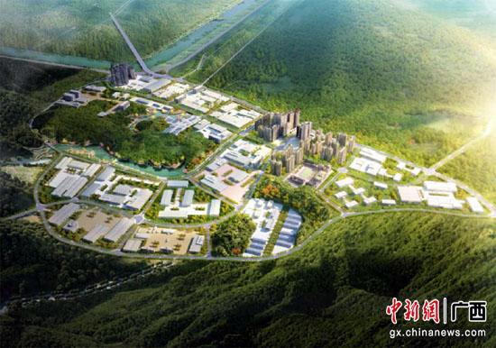 梧州高新区二期生物医药产业园项目场地平整进入最后阶段