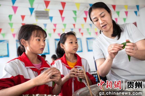 贵州黔西:校园粽飘香