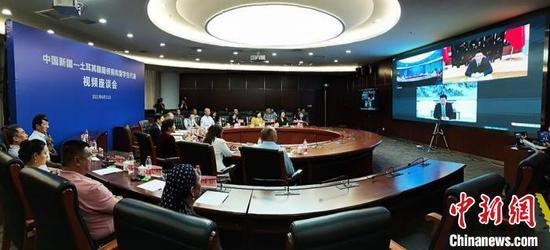 6月11日,由新疆海外聯誼會主辦的中國新疆-土耳其疆籍僑胞和留學生代表視頻座談會在烏魯木齊市舉行?!∑輥喥健z