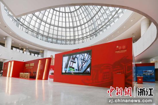 """""""红船引航,迎潮搏浪——中国共产党与中国强港之路""""特展。 赵锡 供图"""