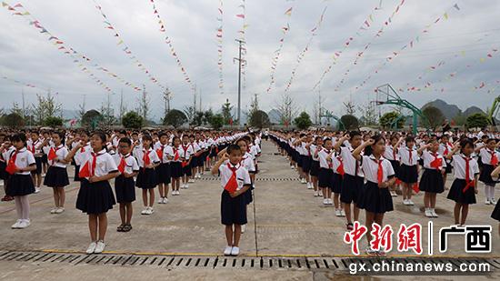 """桂林兴安县举行""""四个一""""红色主题教育活动"""