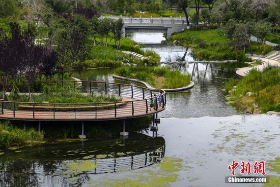 乌鲁木齐新增滨河景观带