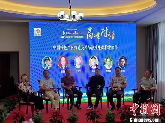 18日,新疆和硕县文化旅游季期间,和硕县邀请资深葡萄酒专业委员会专家交流讨论。 王荣曌玺 摄