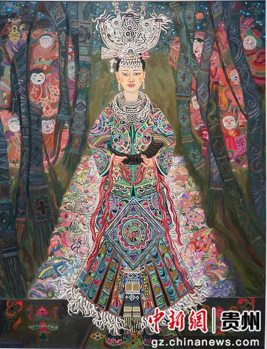 贵州苗族画家用画笔勾勒出贵州乡村振兴美丽蓝图