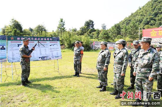 河池金城江区四家班子成员参加军事日活动