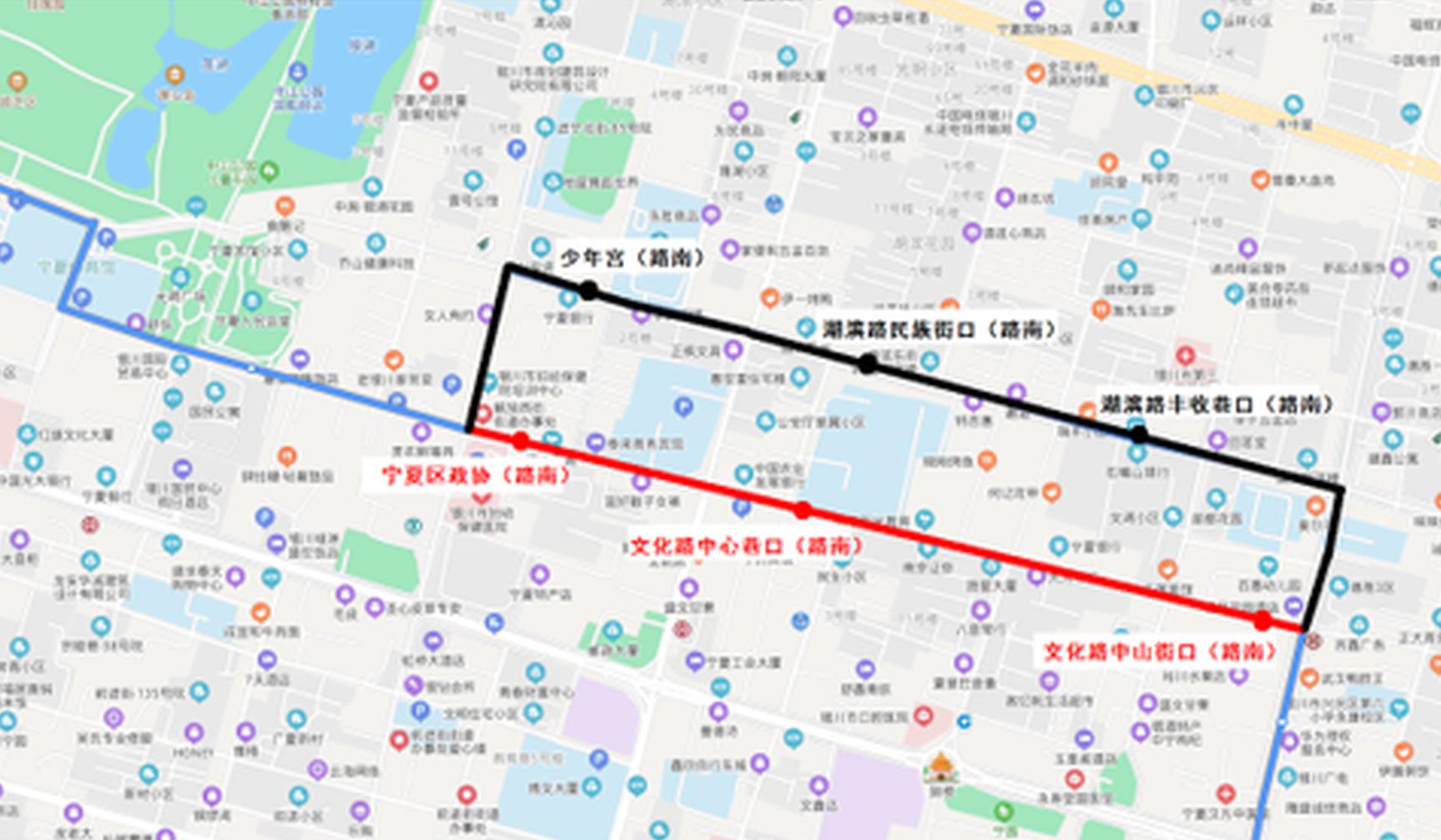 明起,银川公交22路、41路、49路部分线路有变!