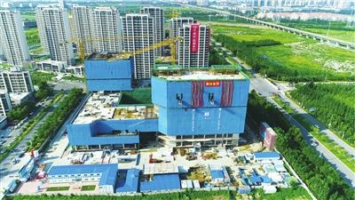 經緯恒潤天津研發中心項目主體結構封頂