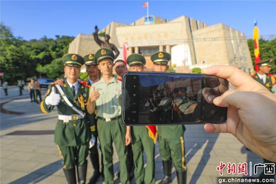 武警百色支队举行2021年度夏秋季士兵退役仪式