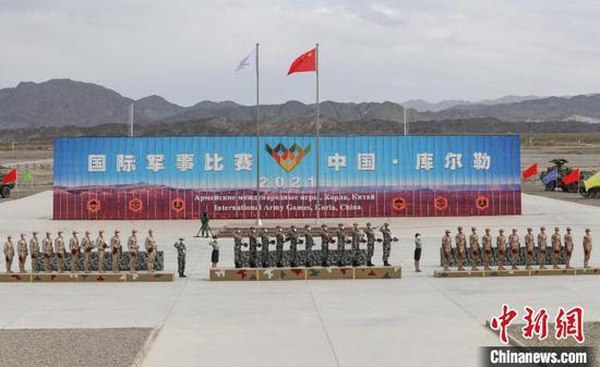 """中国获得""""晴空""""项目第一名,俄罗斯、埃及分别获得第二名、第三名。 王康华 摄"""