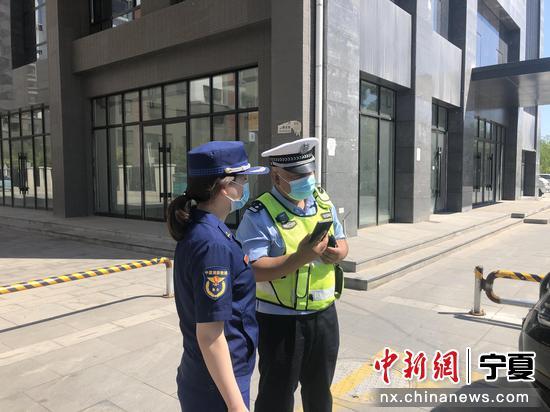 """银川西夏区多部门联动 为消防救援辟出一条""""畅通道"""""""