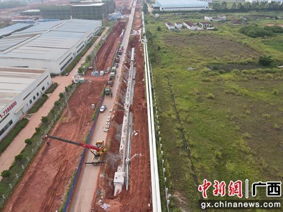 南宁六景工业园区抢抓施工黄金期 冲刺下半年工作目标