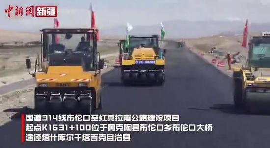 喀什国道314线布伦口至红其拉甫公路工程建设进入收尾阶段