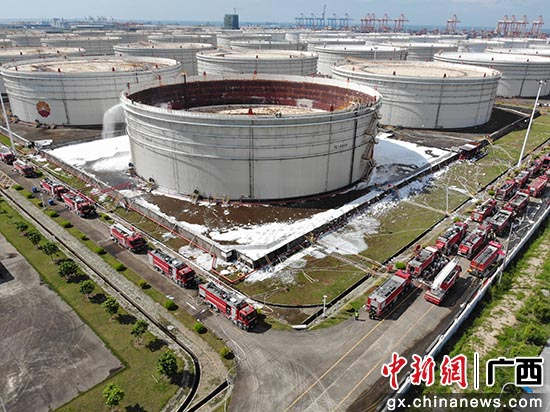 广西消防举行石化火灾事故实战演练