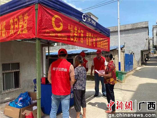 南宁武鸣区灵马镇开展惠民服务活动 志愿服务送到家