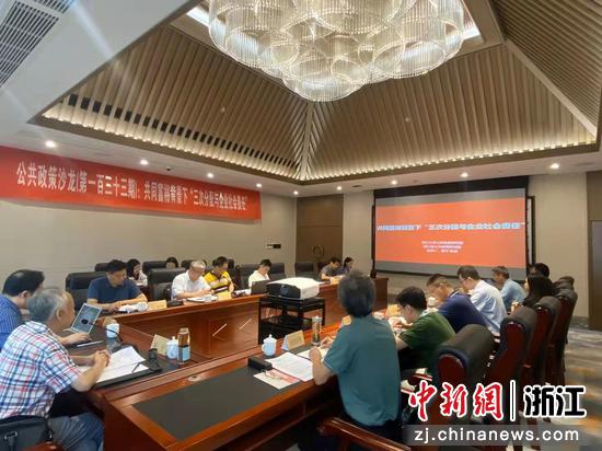 座谈会现场。  浙江大学公共政策研究院供图