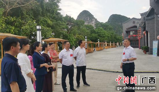 桂林象山区20余名政协委员到龙船坪视察调研