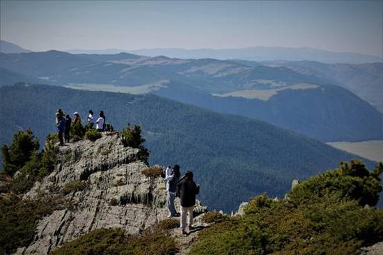 双湖山顶石林犹如园林景观。 (张旭茗 摄)