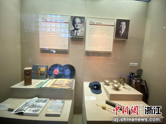 """中国现代航运先驱董浩云和""""世界船王""""包玉刚。  李典 摄"""