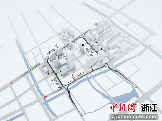 杭州未来科技城地下环路示意图。 杭州未来科技城供图