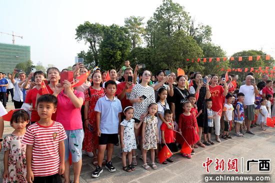 柳州柳江区举行庆祝中华人民共和国成立72周年升旗仪式